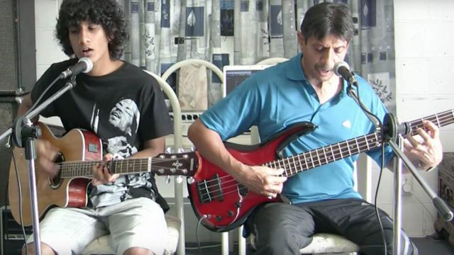 Father & Son Duo Nail Simon & Garfunkel, Sing Incredible Cover Of Sound Of Silence.