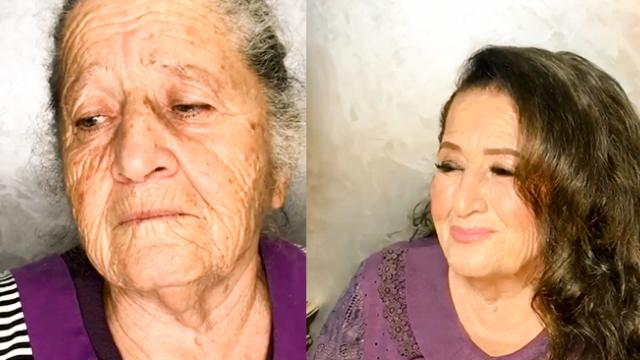 Amazing Makeup Artist Made Her Grandmother Look 40 Years Younger