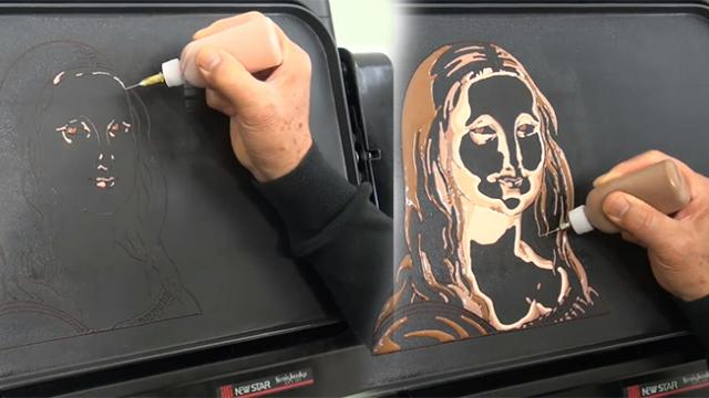Making MONA LISA PANCAKE - The Most Expensive Food In The World