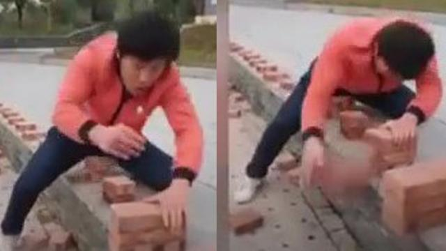 Incredible video Kung fu master smashes 50 bricks in 40 seconds