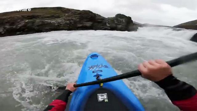German kayaker becomes first person to run infamous Iceland waterfall