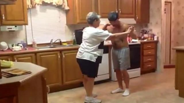 Son Grabs Mom's Hand As Favorite Song Comes On
