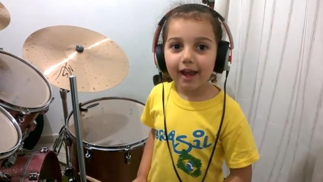 System Of A Down - Toxicity ( Drum cover ) Eduarda Henklein (5 Years-old)