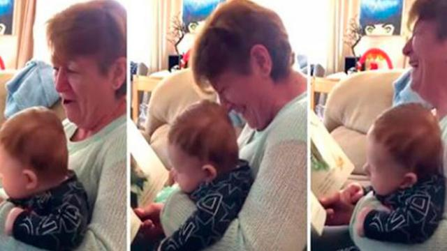 Scottish Granny Reads 'Innocent' Kids Book To Baby Loses Her Mind & Makes Everyone Laugh In Proc