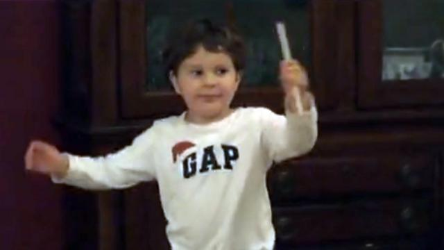 3 year old Jonathan conducting to the 4th movement of Beethovens