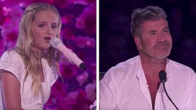 Evie Clair- Simon Cowell CHOKES UP While Her Sick Dad