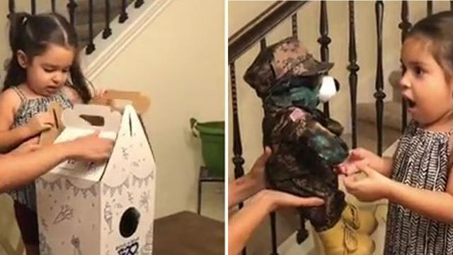 Soldiers Sends 5 yo Daughter Birthday Gift And Leaves Her Overjoyed,