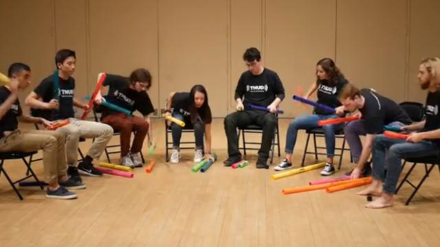 This boomwhacker cover of 'Don't Stop Believin'' is pretty bangin'