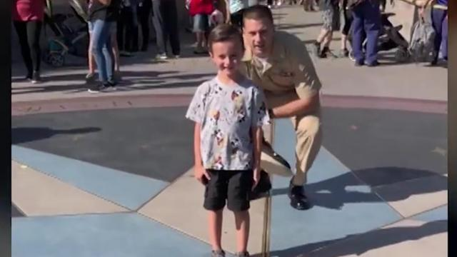 12 News - Military dad surprises son at Disneyland