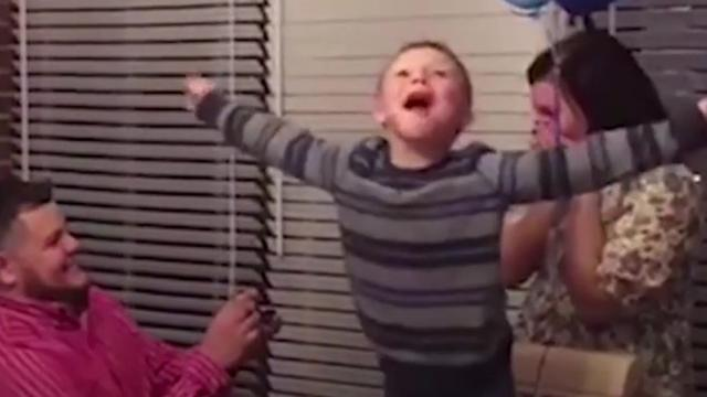 Boys birthday wish for parents to marry finally comes true