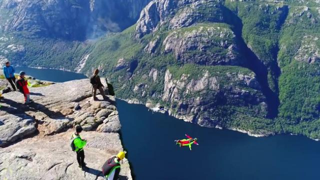 This video of insane base jumpers will make you cling to your seat