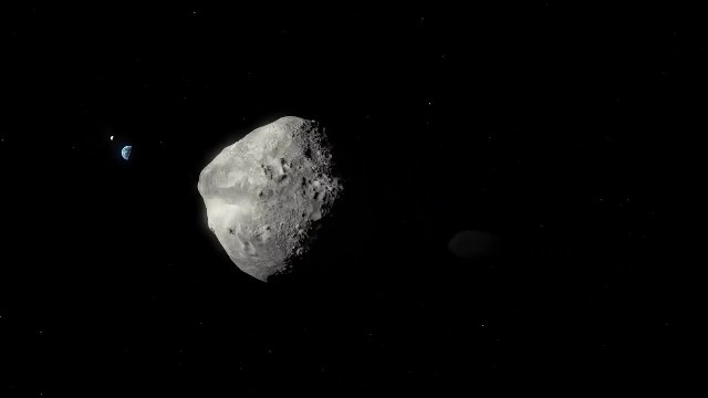 Artist's Impression of Asteroid 1999 KW4