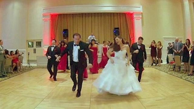 Everyone's jaw dropped when the bride and groom stormed the floor
