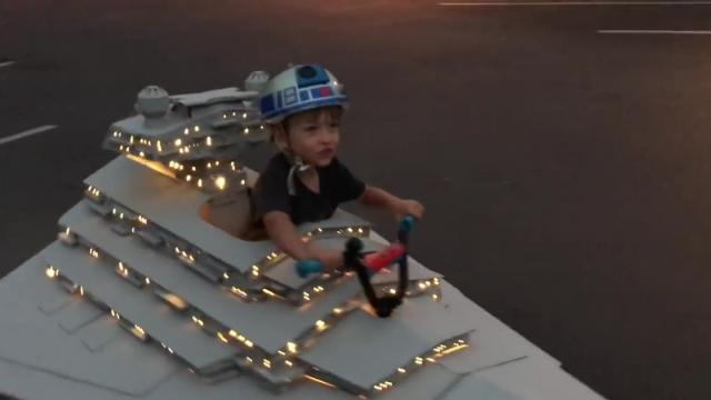 Star Destroyer test drive - Aidan is ready for Halloween_Medium