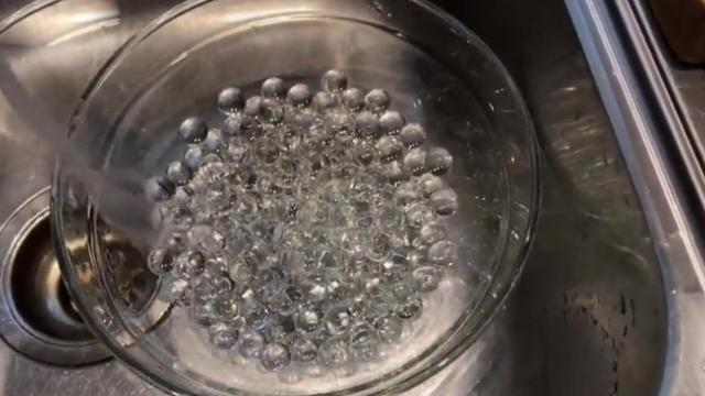 YouTuber shows off squishy gel beads that go invisible in