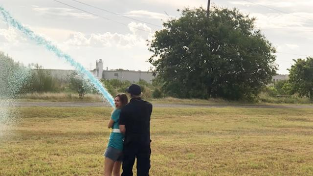Fireman and His Wife Celebrate New Baby With Epic Gender Reveal