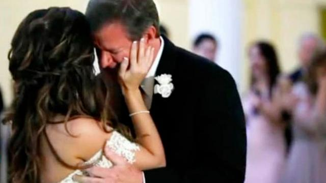 Bride And Father Are Halfway Through Dance When A Voice From The Past Interrupts Dad Falls Apart