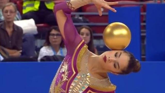 Italian Gymnast Alexandra Wins Hearts With Her Performance On The Rhythmic Gymnastics
