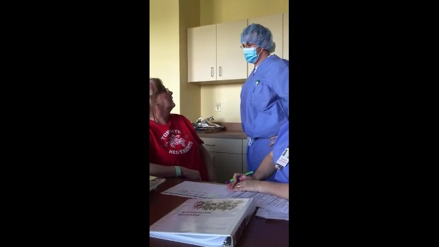 Marine surprises mother