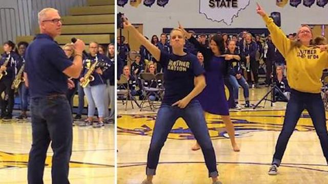 Uptown Funk- Whitmer Teacher Flash Mob - Homecoming 2017