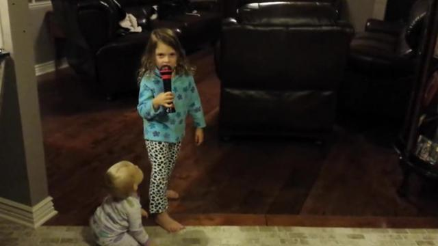 Funny Girl Does Kitchen Performance To Focus By Ariana Grande