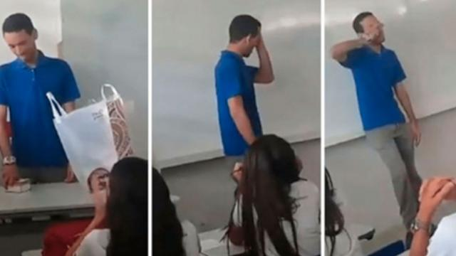 Teacher Without Salary Sleeps At School For Two Months  Breaks Down In Tears When He Sees Present F
