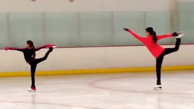 "Kristi Yamaguchi Follows Daughters Lead In Adorable ""Frozen"" Ice Dance."