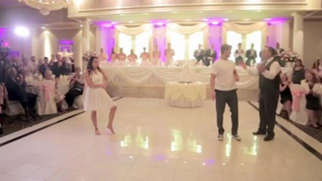 Their first dance was epic, but when Dad cut in he shocked the