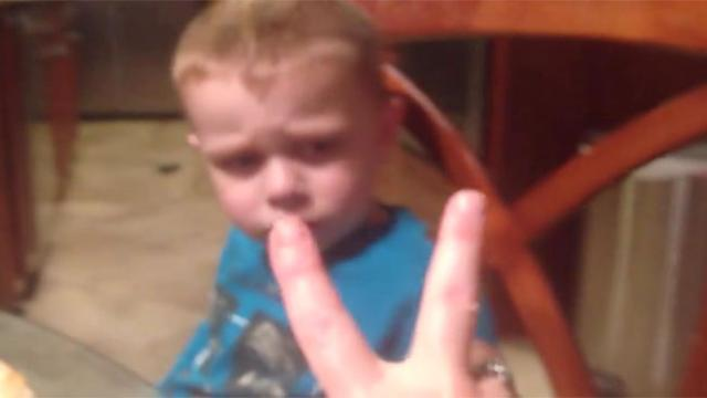 This kid actually knows how to count and he proves it by showing his mom he s not ready to go to bed