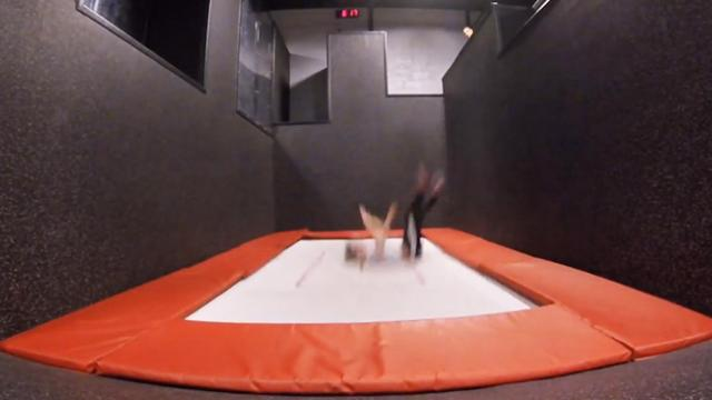 Trampoline Wall Tricks @ Defy Gravity