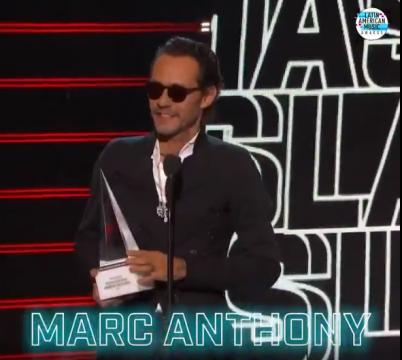 La dedicatoria del premio de Marc Anthony