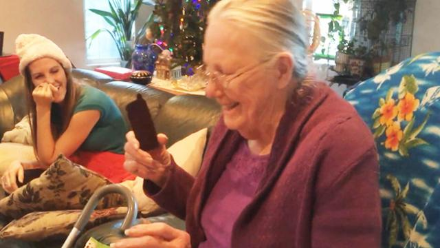 Grandma Opening Chocolate iphone