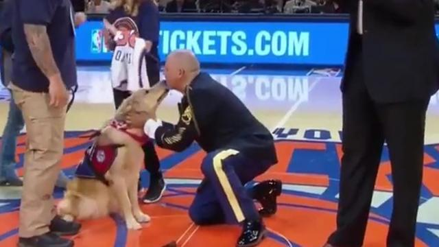 Military Veteran Is Honored At Basketball Game  Then He Sees Something That Brings Him To His Knees