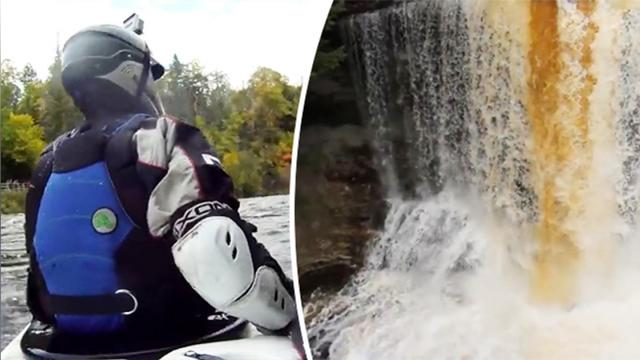 Kayaker thinks he's ready for an epic challenge—but look