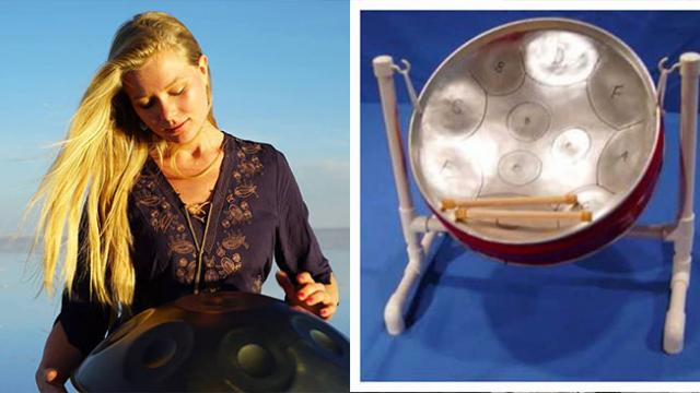 Aspiring musician Kate Stone creates stunning music with unique musical instrument called handpan