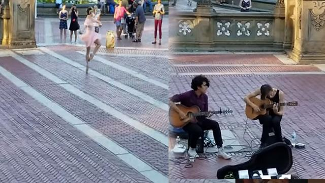 Ballerina Joins Musicians In Central Park For Truly Magical Street Performance.