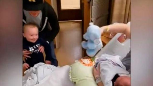 Little Boy With Down Syndrome Meets His New Baby Brother His Genuine Reaction Has Gone Viral