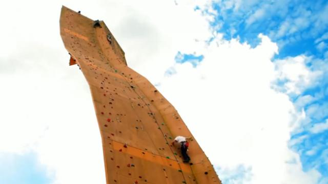 The Tallest Freestanding Rock Climbing Wall In The World Is Pure Insanity