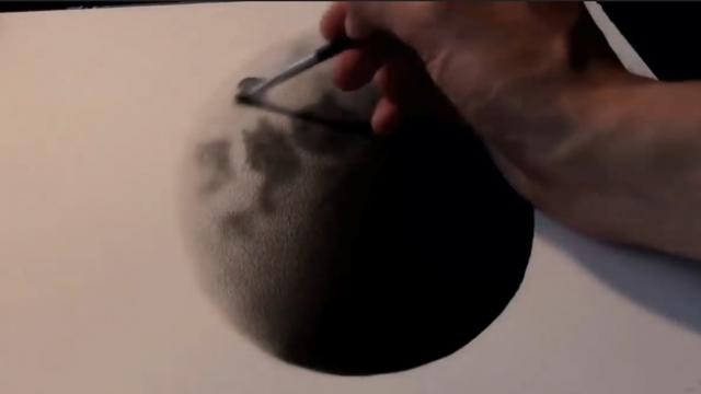He Starts By Drawing A Circle On A Piece Of Paper. But When He Was Done, I Was Totally Blown Away!