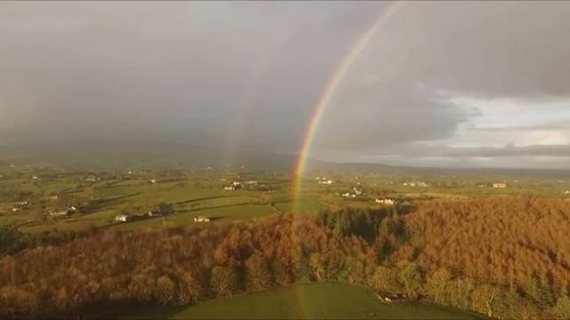 Drone Captures Stunning Full Circle Rainbow