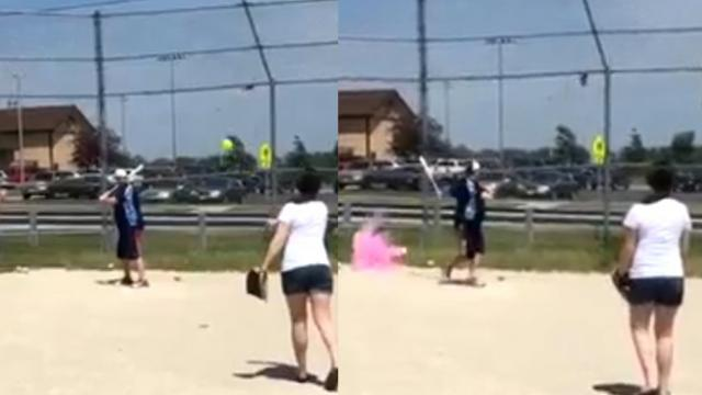 Couple Fails at Baseball-Style Gender Reveal
