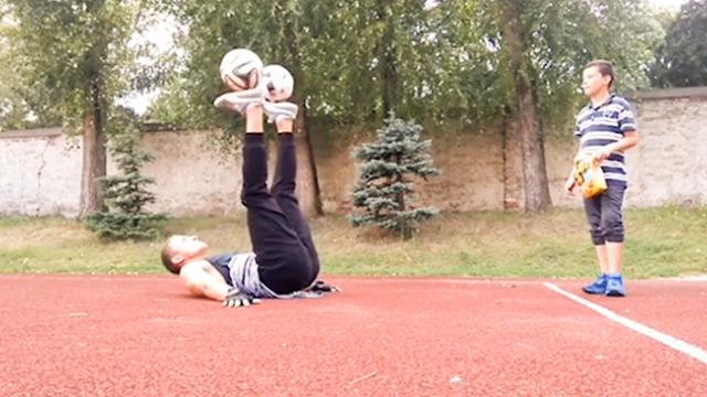 Man Performs Crazy Soccer Skills With Two Soccer Balls - Storyful Video