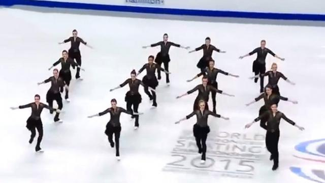 Synchronized skating team stuns competition with unique country-music inspired routine