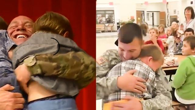 A Heartwarming Video When Soldiers Surprise Their Kids After Deployment Will Melt Your Heart