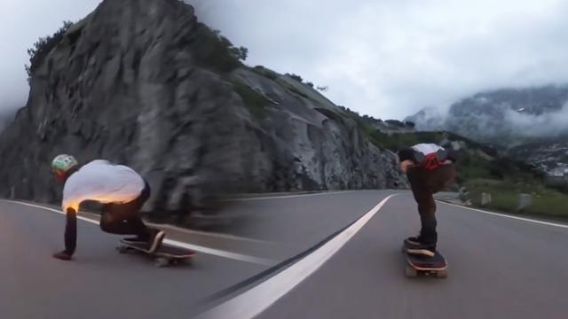 Longboarders Show off Their Tricks