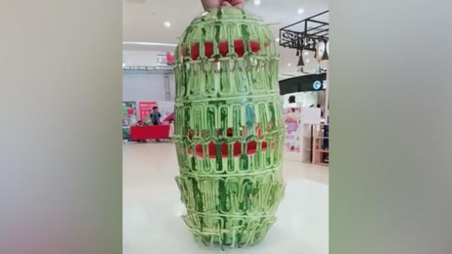 Stunning video of fruit carving art reveals the never-before-seen watermelon lantern