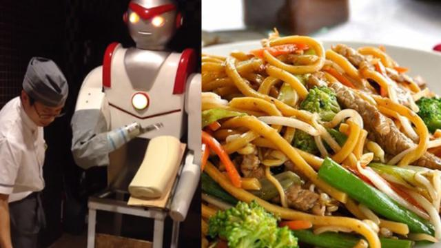 Delicious Chinese noodles made by a robot