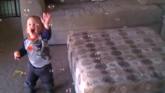Baby's Adorable Reaction To Seeing Bubbles For First Time