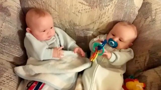 Newborn Steals His Twin Brother's Toy
