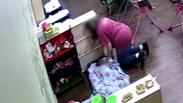 Oklahoma mother says she was horrified to watch day care worker